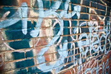 Abstract graffiti on the wall