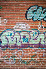 Coloured graffiti on a wall