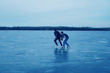 Playing Hockey Together