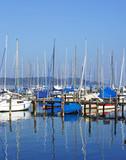 Segelboote am See - Sailing Boats at the Lake poster