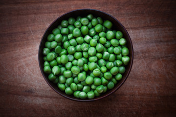 A bowl of fresh peas