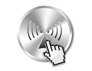 Wireless button and hand cursor