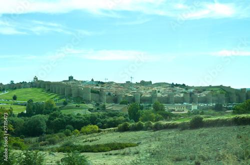 Leinwandbild Motiv Medieval city Avila near Madird