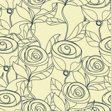 Floral seamless wallpaper