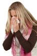 frau beim niesen