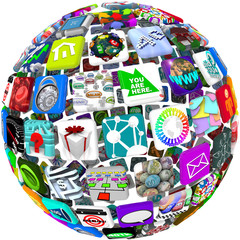 App Icons in a Sphere Pattern