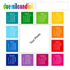 Calendario quadrato colorato