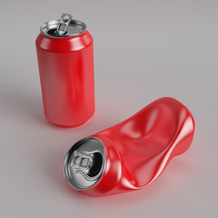 Drink can deformed