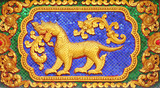 fairy tale leo  in thai style art molding poster