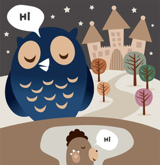 Owl and Woodchuck