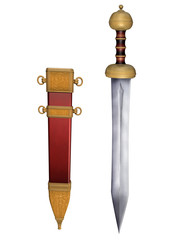 Roman Gladius with Scabbard