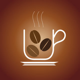 Fototapety Logo coffee