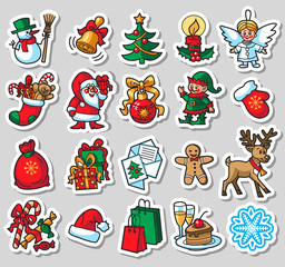 20 Christmas colorful icons
