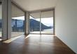 interno di appartamento vuoto con vista da sogno