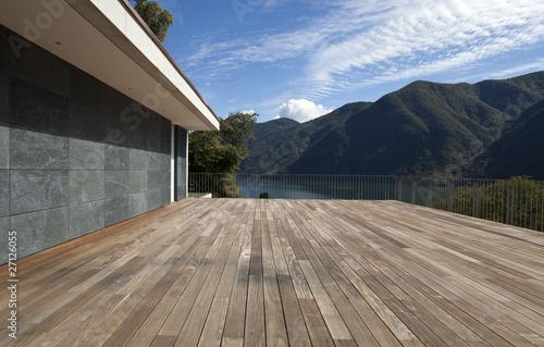 Leinwanddruck Bild grande terrazza vuota