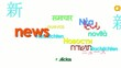 International news tag cloud flash report worldwide language