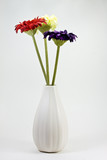 synthetic flowers in vase poster