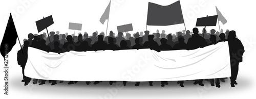 Mietdemonstranten weißes Transparent - 27128268