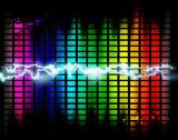 Fototapety fondo con graficos y ondas de musica
