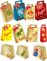 Christmas Shoppers and bags