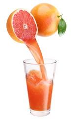 Fresh grapefruit juice.