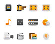 Icons Set for Web Applications, media icons, multimedia