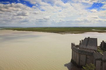 Landscape on Mont Saint Michel