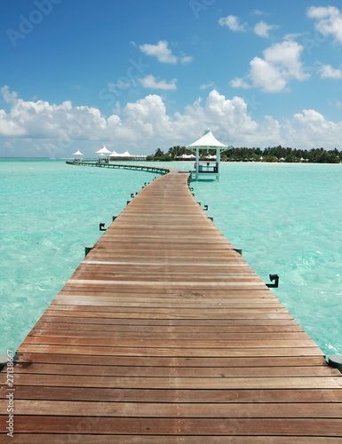Walkway to tropical island