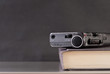 Mini Tape Recorder on Book with Space for Text