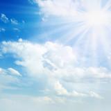 Fototapeta słońce - chmury - Inne