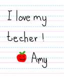Affection for Teacher poster