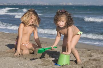 giocare con la sabbia