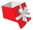 giftbox open vector illustration