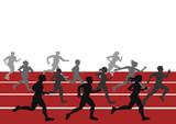 Marathon competition,illustrator image