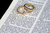 Love is Patient Bible Verse with Rings poster