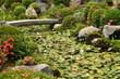 Pont en pierre dans un jardin japonais à Kyoto