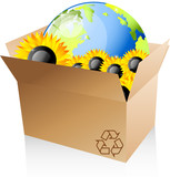 Box, earth, recycle