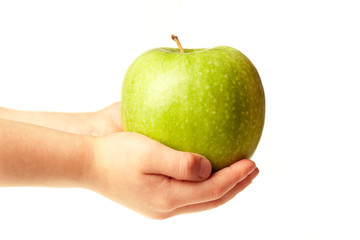 Apple in the hands