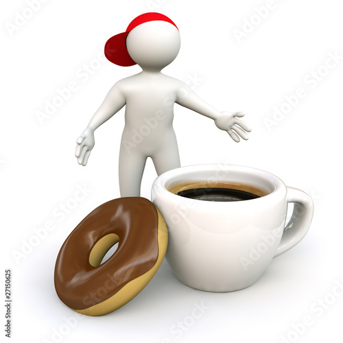 3D Man coffee break