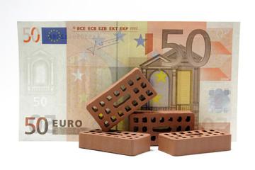 backsteine mit euronote