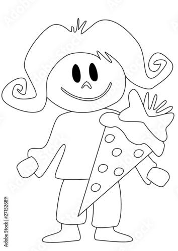 GamesAgeddon - Mädchen mit Schultüte zum ausmalen - Lizenzfreie ...
