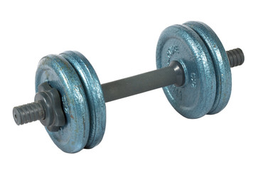 old dumbell isolated on white background