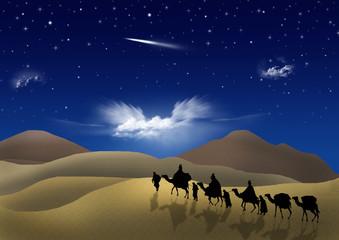 Re Magi seguono la stella cometa