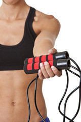 Sports Woman with jumping rope