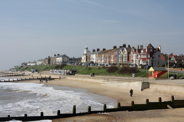 Seafront at Southwold, Suffolk, England