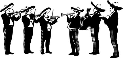 Vector Mariachi Band