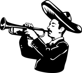 Mariachi playing the trumpet