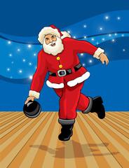 Santa claus bowling