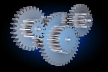 Virtual rotating gears