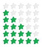 3D Rating Stars (customer satisfaction feedback mark out of 5) poster
